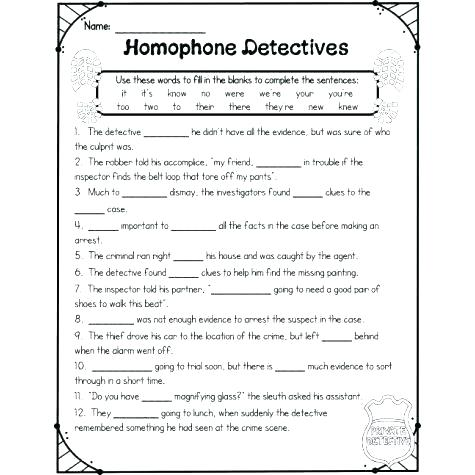 Worksheets Of Homophones – Katyphotoart Com