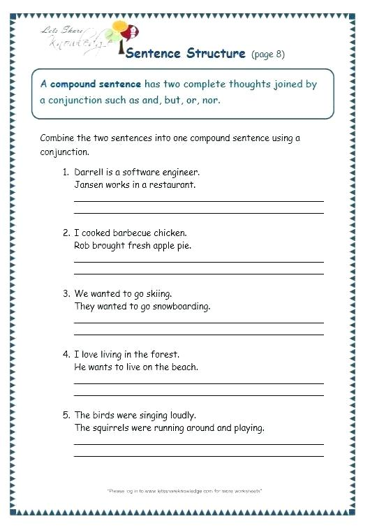 Improving Sentence Structure Worksheets Improving Sentence