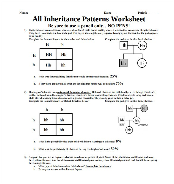 Sample Patterning Worksheet