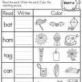 English Worksheets For Preschool