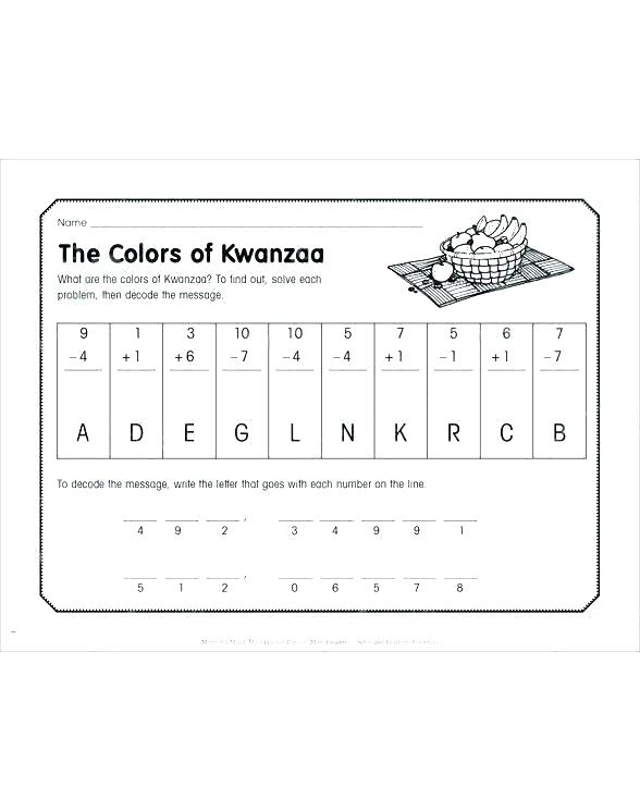 Kwanzaa Worksheets Kindergarten – Premiumworld Info