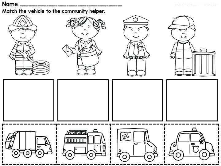 Community Helpers Worksheet For Kids Crafts And Worksheets