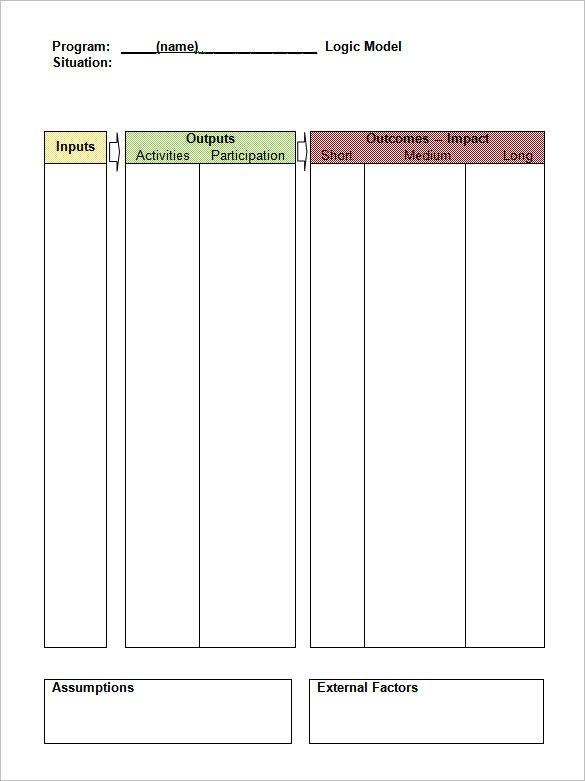 5+ Logic Model Templates