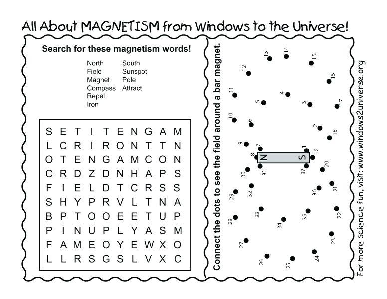Magnets Worksheets For 1st Grade Magnetism Worksheet Grade