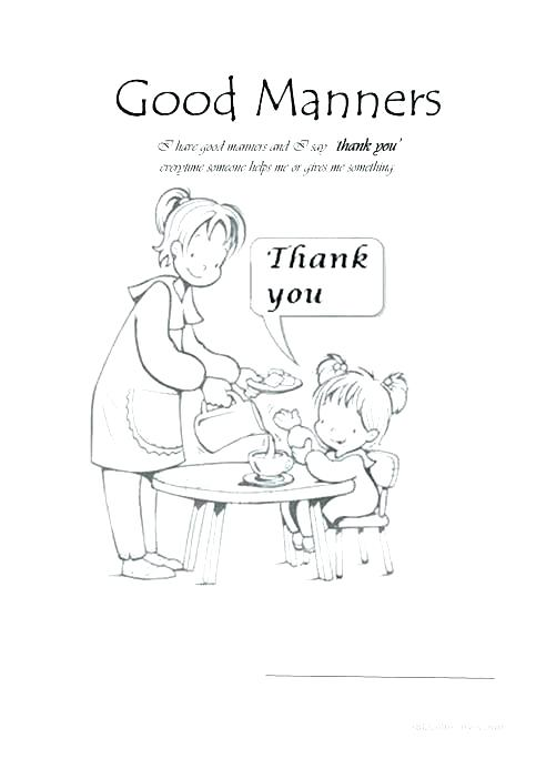 Manners Worksheets Kids Good Manners Worksheets The Best Free
