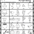 Rhyming Pictures Worksheets