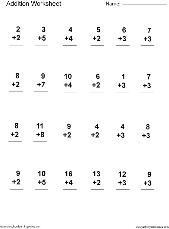 Math Practice Worksheets For 1st Grade