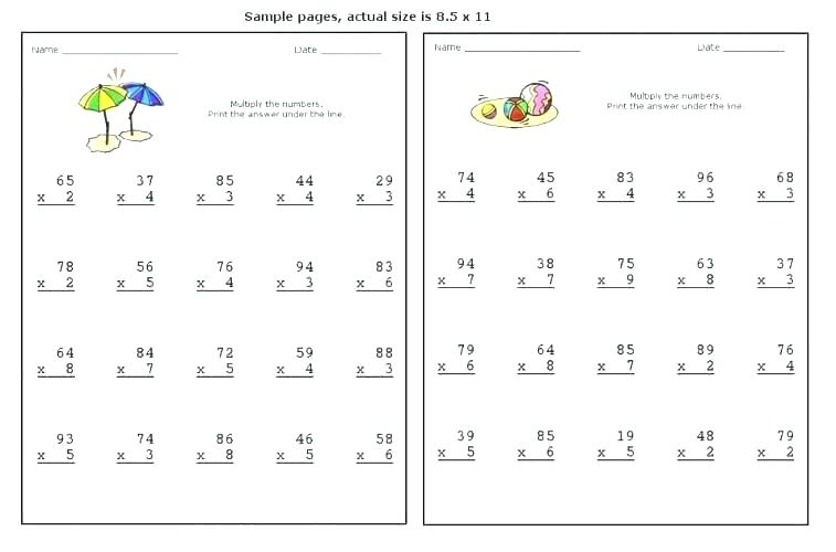 Multiplication Worksheets Grade For First Graders Sheets 1 Math