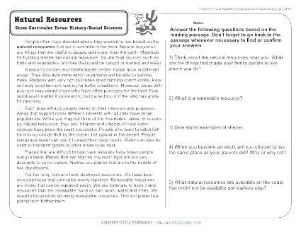 Nature Worksheets For 2nd Grade Summarizing Worksheets Nonfiction
