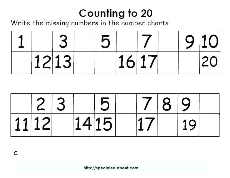 Kindergarten Number Recognition Worksheets