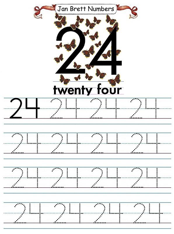 Jan Brett Number Tracers 24