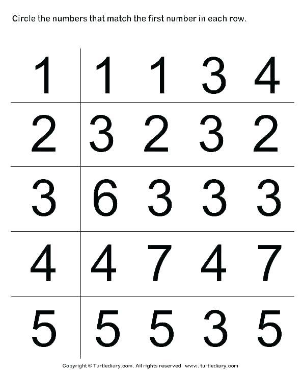 Number Worksheets Numbers 1 5 Worksheets For Preschoolers Numbers