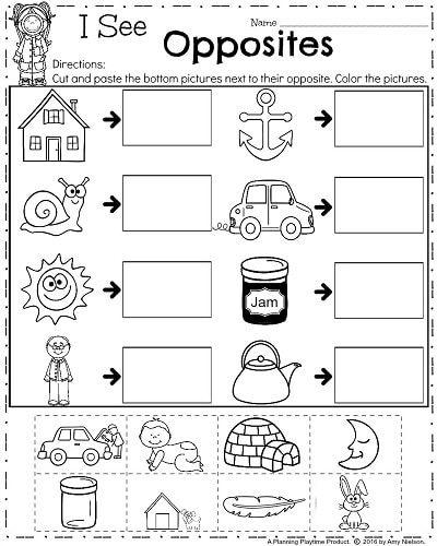 Opposites Preschool Worksheets 2019 Adding And Subtracting