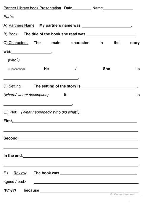 Pair Interview Book Report