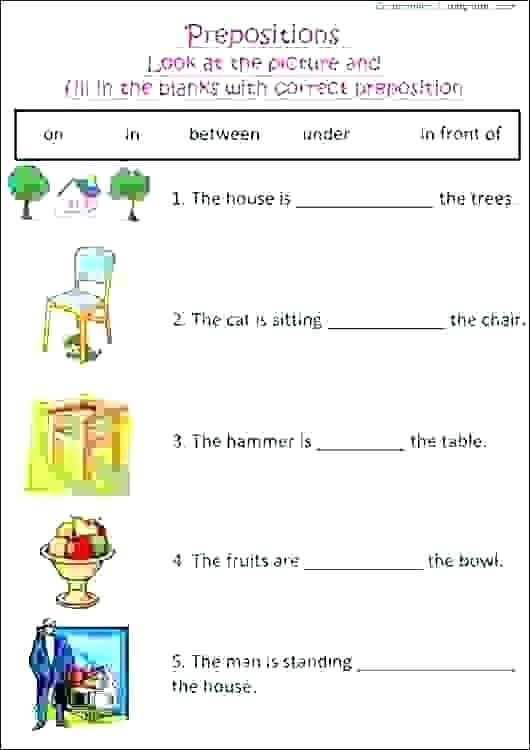 Preposition Practice Worksheets