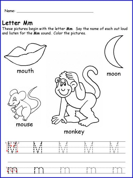 Preschool Worksheets With Letter M