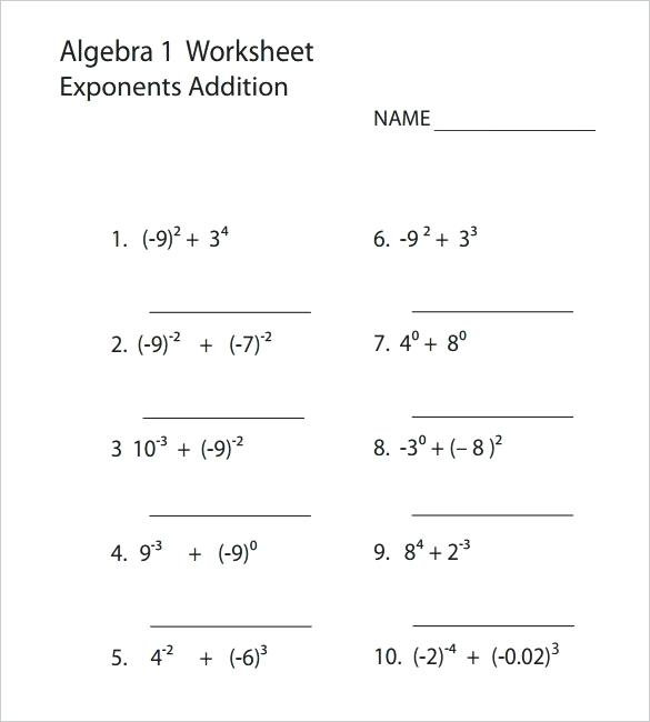 Printable Equation Worksheets High School Algebra Worksheets
