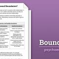 Family Boundaries Worksheets