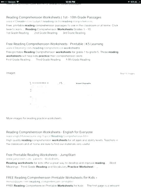 Remedial Reading Worksheets Science Comprehension High School Free