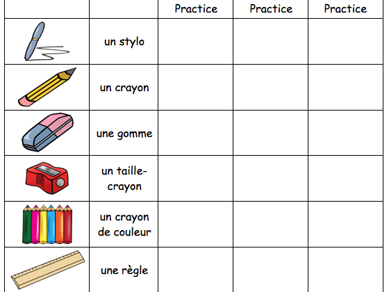 French Classroom Vocabulary   Revision Worksheet By Misssanglier