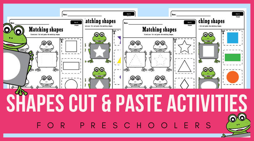 Cut And Paste Shapes Worksheets For Toddlers And Preschoolers