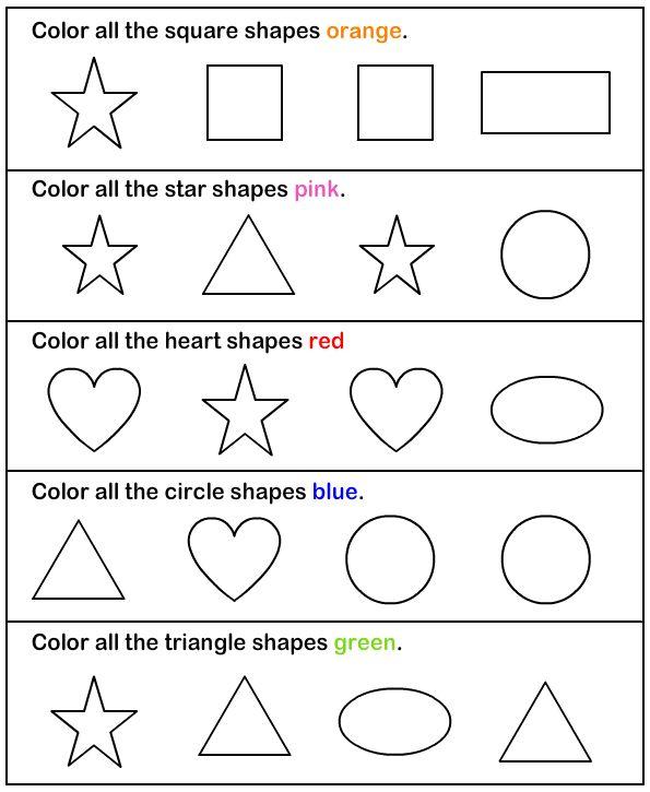 Shapes Preschool Worksheets Printables