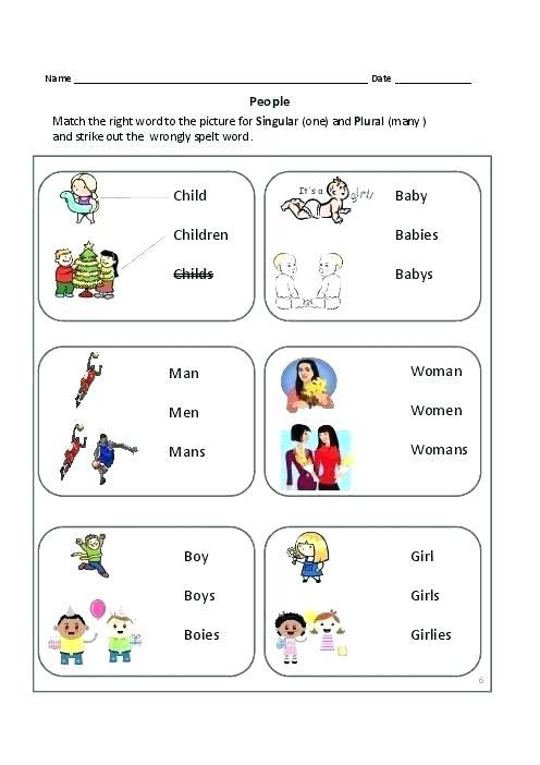 Singular And Plural Worksheets Singular And Plural Worksheets For