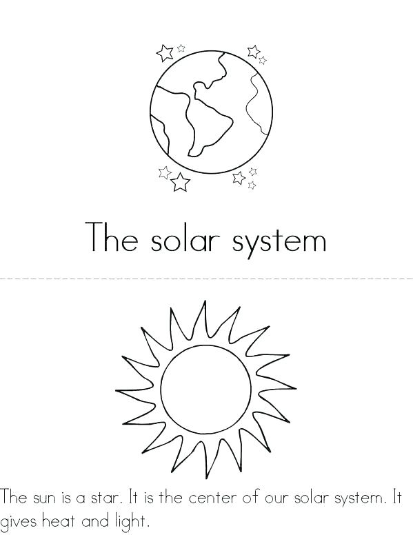 Solar System Drawing Worksheets