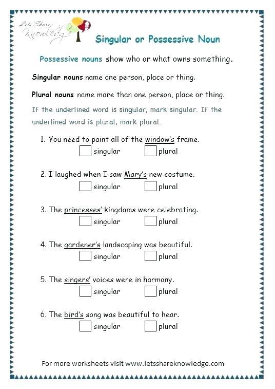 Special Plural Nouns Worksheets Irregular Worksheet Grade Untitled