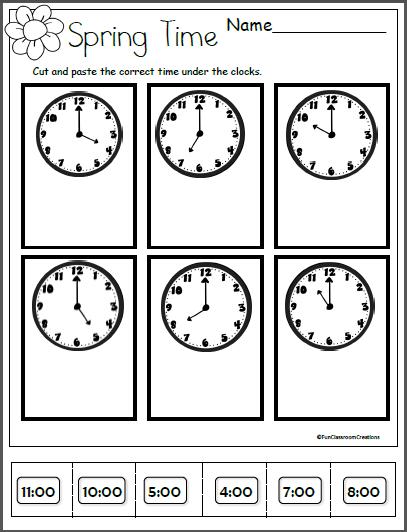 Spring Time Worksheet For Kindergarten And 1st Grade