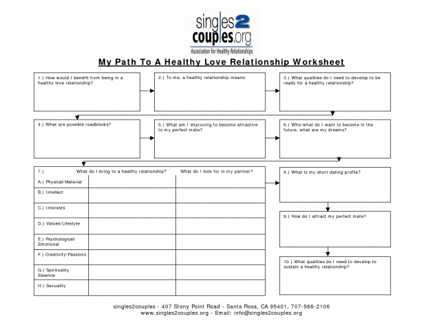 Worksheet  Healthy Relationships Worksheets  Seeking Safety