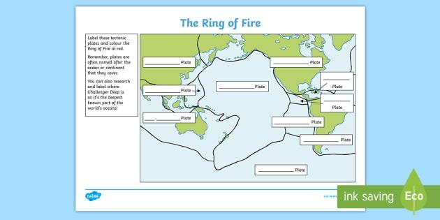 Ks2 The Ring Of Fire Worksheet