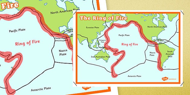The Ring Of Fire Map Poster