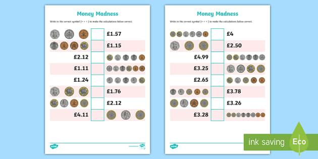 Year 4 Fractions Of Money Problems Worksheet   Worksheet