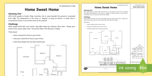 Home Sweet Home Worksheet   Worksheet