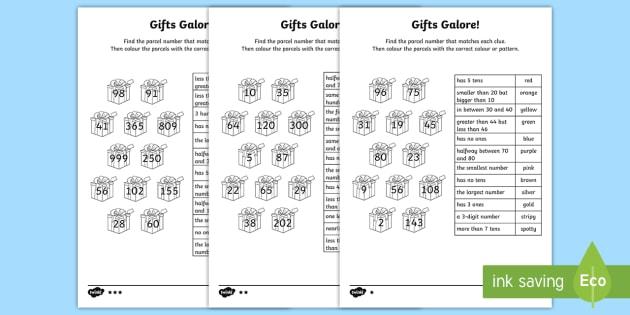 Place Value Number Clues Homework Worksheet   Worksheets