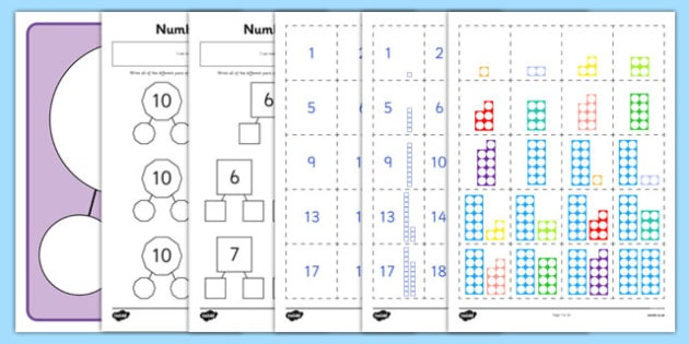 Number Facts To 20 Part Whole Worksheet   Worksheets Pack