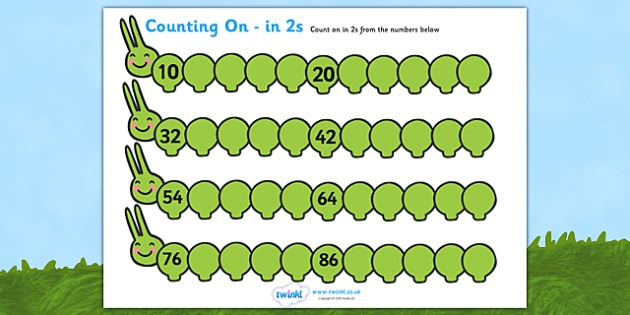 Counting On In 2s Caterpillar Worksheet   Worksheet (10