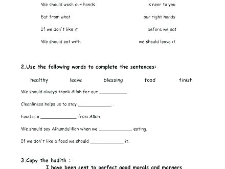 Teaching Good Hygiene Worksheets Quiz Worksheet Personal Picture