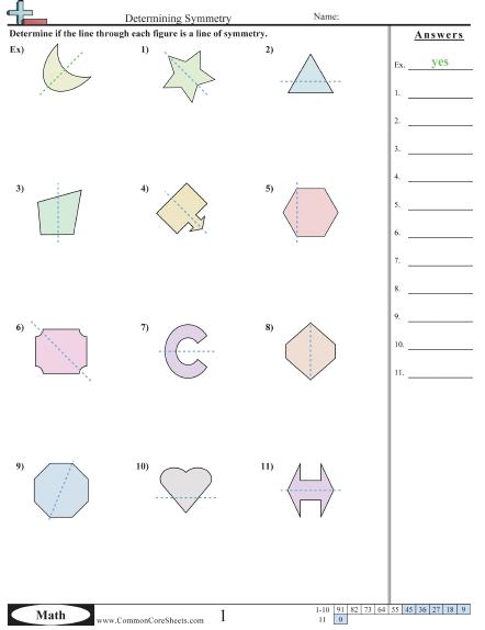 Determining Symmetry Worksheet