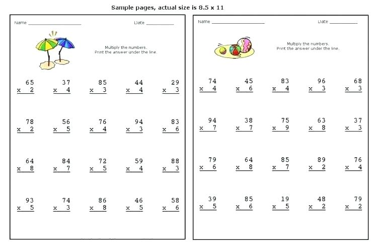 Times Table Worksheets Printable Beginning Multiplication Grade 4