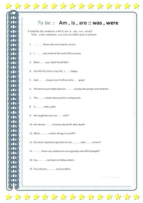 Is Are Worksheets