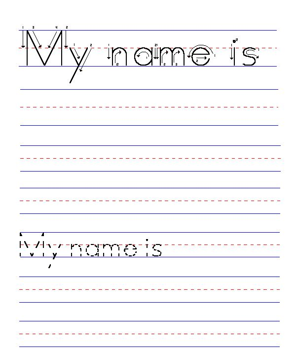 Handwriting Name Worksheets Traceable Name Worksheets As