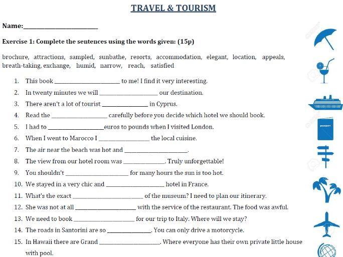Travel Vocabulary Esl Pdf