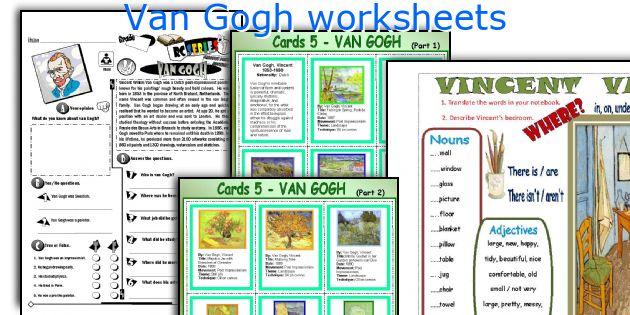 Van Gogh Worksheets
