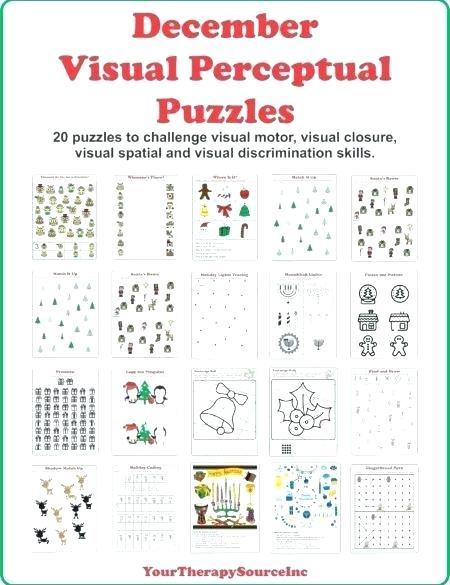 Visual Perceptual Worksheets Follow The Path Copy Pattern Visual