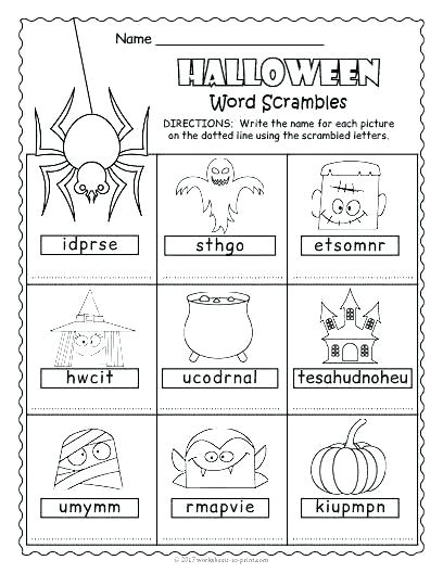 Halloween Vocabulary Worksheets – Openlayers Co