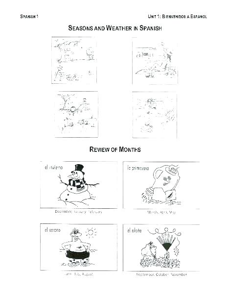 Weather And Seasons Worksheets Free Printable Seasons Worksheets
