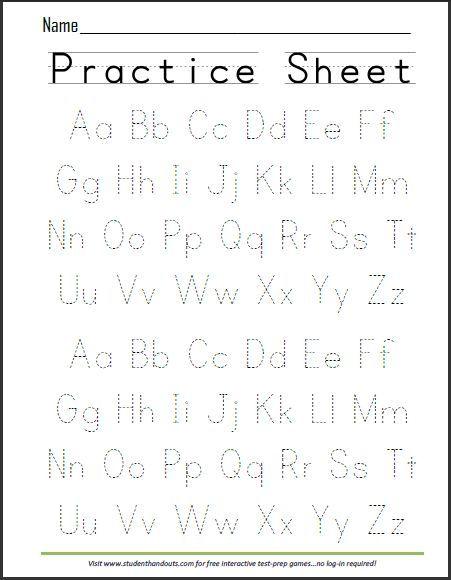 Writing Abc Worksheets For Kindergarten