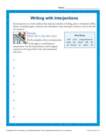 Writing With Interjections
